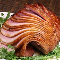 sliced hickory ham